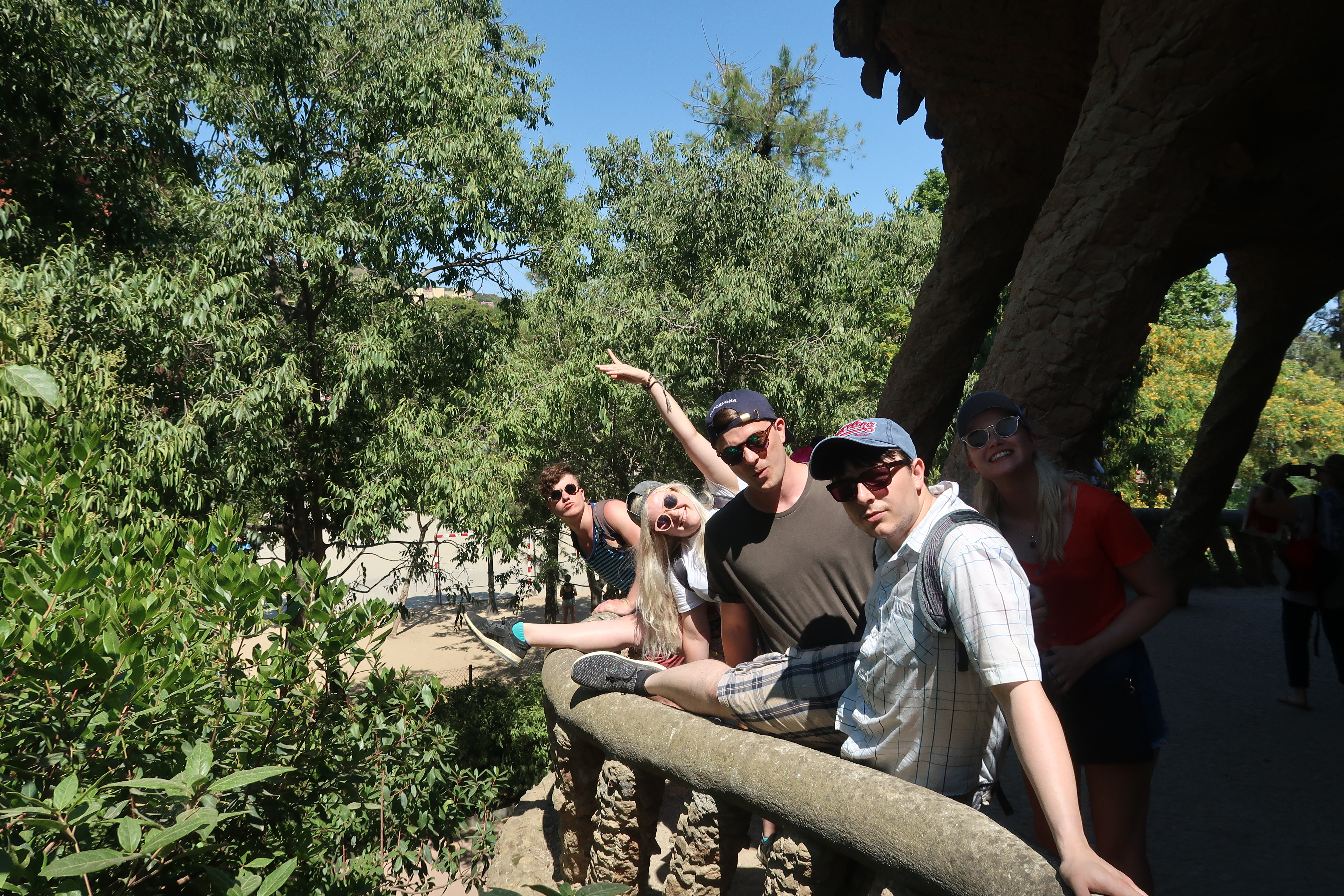 Friends in Parc Guell Barcelona