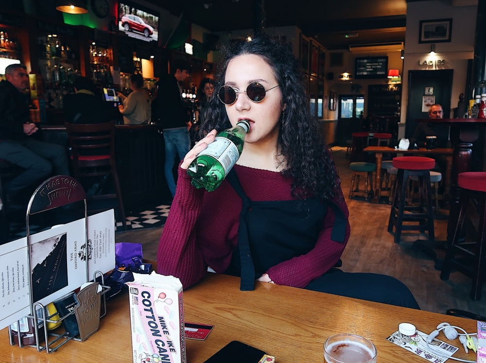 Sat in a pub in Camden