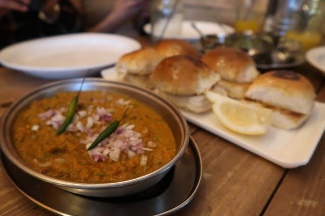 Pau bhaji, Dhaba 59, Oxford Street Southampton