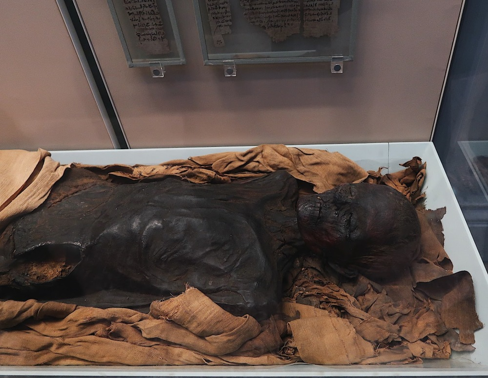 Mummified body in the British Museum, London