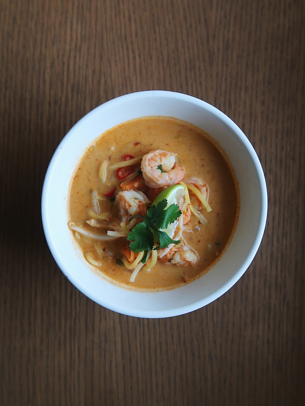King prawn curry laksa