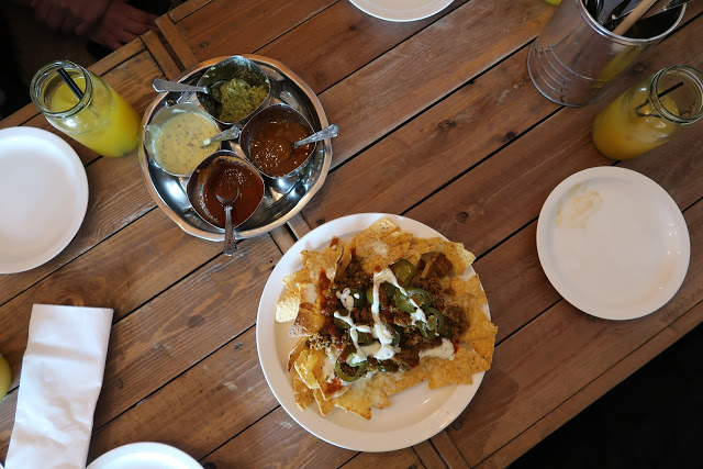 Chutney tray and keema nachos at Dhaba 59, Southampton