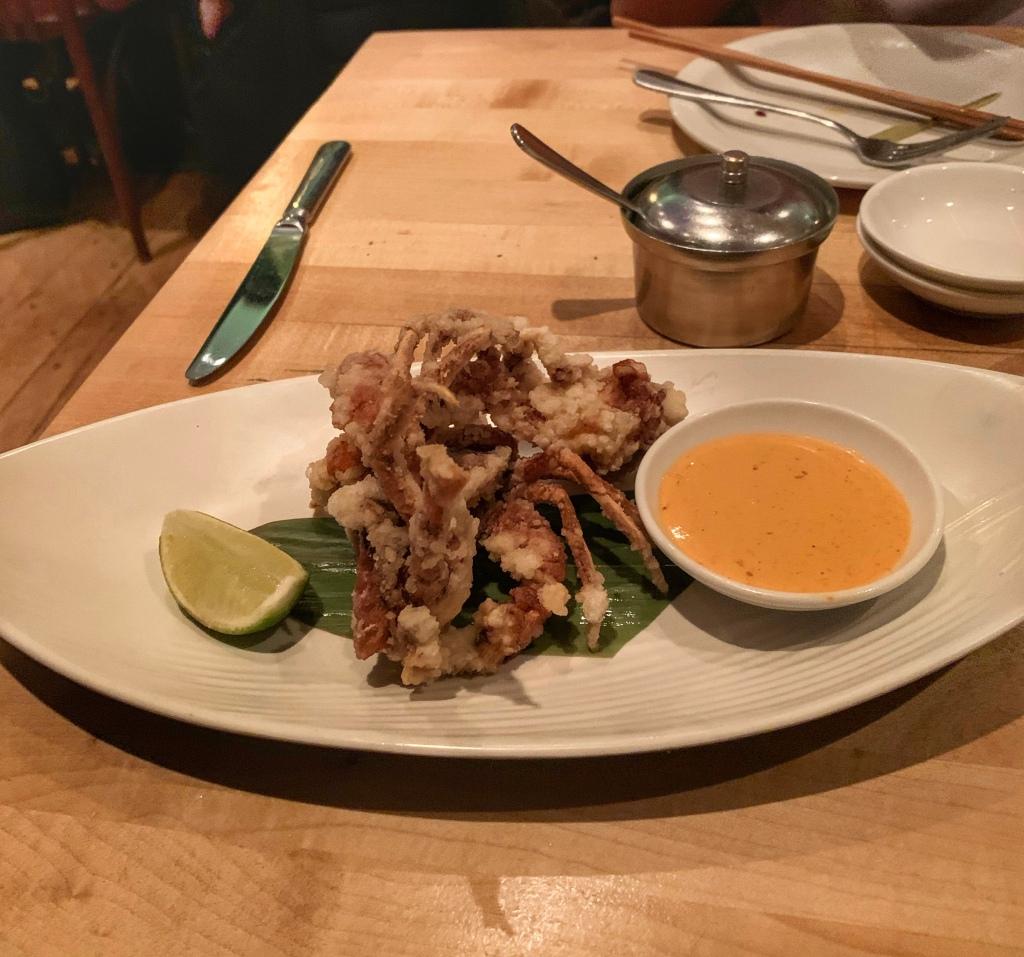 soft shell crab at Shackfuyu, London